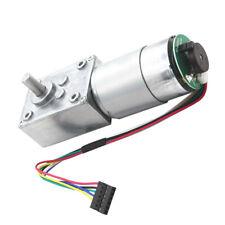 1pc High-torque worm gear motor DC motor with ENCODER 24V 160rpm