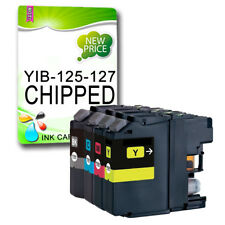 4 CHIPPED Ink Cartridge Replace For LC127 DCP-J4110DW MFC-J4410DW MFC-J4510DW