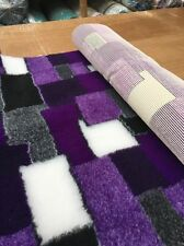 VET BEDDING  NON-SLIP PURPLE PATCHWORK   1MT X 1.52MT