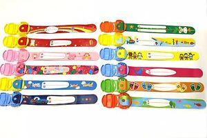 child safety wrist band kids infoband waterproof reuseable wristband