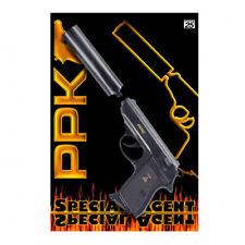 Special Agent PPK 25-Schuss Pistole Schalldämpfer Spielzeugpistole Schreckschuss