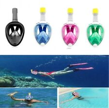 180° View Panoramic Snorkeling Mask Full Face - GoPro Compatible Snorkel kit US