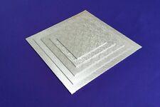 "Cake Boards Cake Drum   Masonite Base   Square 3 mm   Silver   6"" 8"" 10"" 12"" 14"""