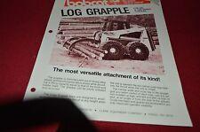 Bobcat Skid Loader Log Grapple Attachment Dealers Brochure DCPA2