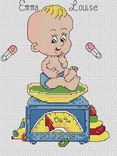 Sampler de Nacimiento Bebé Escala Punto de Cruz Kit Completo #5-116