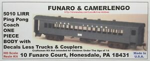Funaro F&C 5010  LONG ISLAND Railroad  PING PONG COACH Passenger Car Kit  LIRR