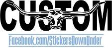 900mm Custom Bull Long Horn Decal Stickers Car Window Ute Moto Wall Graphics JDM