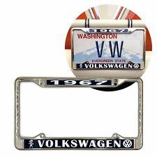 1967 Volkswagen Bubblehead Chrome Dealer License Plate Frame for VW Bug Bus Ghia