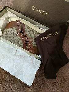Gucci Men's Mid Top Brown/Gray Size 11