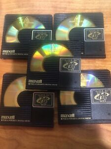 5 - Maxell Minidisc  74 minute Gold MD