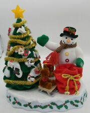Avon A Wonderful Countdown to Christmas Snowman Advent Tree w/ Box & Ornaments