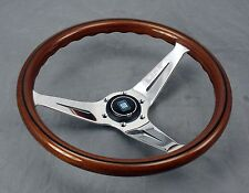Nardi Steering Wheel Deep Dish Corn 350 mm Mahogany Wood Polished Type A Horn