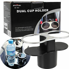 Car Double Wedge Cups Holders Auto  Dual Drink Cup Holder Stand Bottle Mount New