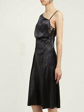 Versace assymetrial silk-satin slip dress IT42 UK 10 CURRENT SEASON NEW