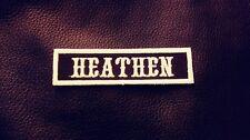 Heathen Name Tape, Odin, Thor, Viking. Black & White, White Border