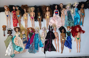 Disney Store Doll Lot Of 23 - Snow White, articulated Jasmine, & Belle Plus More
