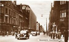 Deansgate Manchester Motor Car unused RP old pc Bamforth