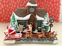 Vintage Mid Century Christmas Tree Santa Claus Train Station Assemblage Diorama