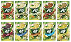 KNORR Cup a Soup Instant Soup with Croutons & Noodles Various Flavors