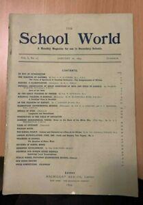 The School World No 1 1899 Use in Secondry Schools