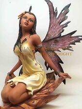 Large African Tribal Leaf Sit Fairy Faery Figurine Legend Statue Enchanted Land