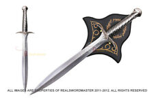 "22"" Steel Fantasy Sting Sword With Wood Plauqe - Lord of The Rings The Hobbit"