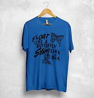 Muhammad Ali Float Like A Butterfly Sting Like A Bee T Shirt Top Box Sport Dope