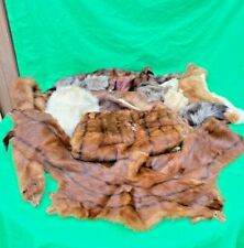 Lot Of 16 Various Vintage Fur Collars Stole Hand Muff And Pieces Some Mink