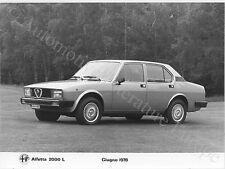 1978 ALFA ROMEO ALFETTA 2000 L PRESSEBILD PRESS PRENSA FACTORY PICTURE BILD