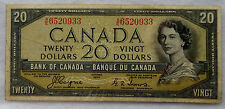 "1954 Canada 20 Dollar ""Devil's Face"" Banknote P.70.a ""Coyne - Towers"" SB3876"