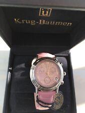 Authentic Krug Baumen Pink Watch Model 2014KL - New - Seal Still On