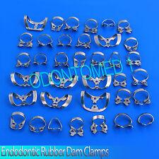 19 Pcs. Endodontic Rubber Dam Clamps Dental Orthodontic Instrument