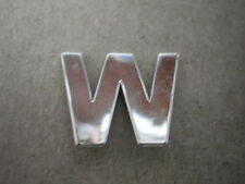 "CHROME LETTER ""W"" for BMW DOOR ENTRY SILL ROCKER MOULDING TRIM ALL E39 OEM NLA"