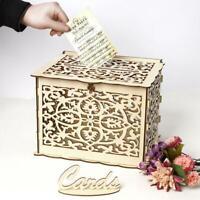 Holz Geschenk Fall DIY Geburtstagsfeier Kartenhalter Hochzeit Wedding Card Box