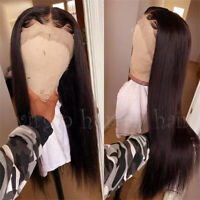 """8-24"""" Glueless #2 Dark Brown Human Hair Lace Front Wig 100% Real Remy Hair Wig V"""
