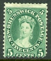 Canada 1860 New Brunswick 5¢ Yellow Green Scott #8 Mint D349