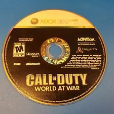 Call of Duty: World at War (Microsoft Xbox 360, 2008) DISC ONLY