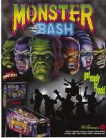 Monster Bash Pinball FLYER 1998 Original NOS Horror Halloween Dracula Creature