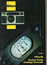NIKON - PRODUCT GUIDE - CATALOGO GENERALE 1994-95