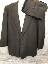 Vtg Giorgio Armani Le Collezioni Mens Brown Textured 2pc Suit 44R 33x30 (t19)