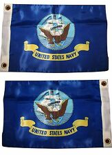 12x18 U.S. Navy Ship 2 Faced 2-ply Wind Resistant Flag 12x18 Inch