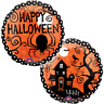 HAPPY HALLOWEEN FRIGHTFULLY FOIL BALLOON HORROR PARTY DECORATION HAUNTED HOUSE
