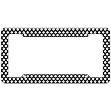 Polka Dots Black White Pattern License Plate Frame