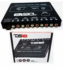 KEQ4LD DS18 4 Band Graphic Equalizer Six Channel Line Driver Subwoofer Level