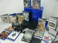 BOXED SONY PLAYSTATION 2 BUNDLE CONSOLE 2 CONTROLLERS MEMORY CARD AND 20 GAMES