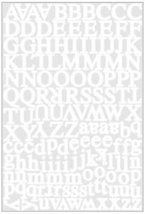 Scrapbooking Crafts KF Stickers Headline White Alphabet Letters Small Capitals