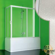 PVC BATH SCREEN 800x1800 MM  BATHTUB SLIDING DOOR CORNER OPENING ACRYLIC