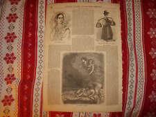 1854 ANTIQUE ANGELS OF SLEEP PRINT VENICE ITALY Rare NR