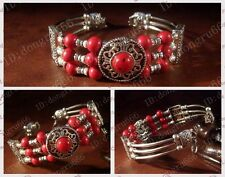 HOT! Fashion Tibet Tibetan Silver ladies Lucky beads Bangle Bracelets. 5 style