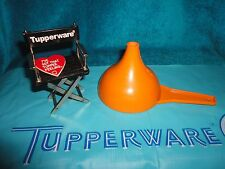 VINTAGE TUPPERWARE BUTTERSCOTCH ORANGE FUNNEL KITCHEN OR LAUNDRY GADGET # 1227